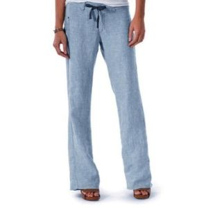 HORNY TOAD 100% Linen Lithe Pants Blue